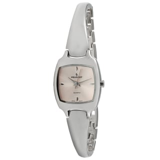 Peugeot Women's Pink Dial Half Bangle Watch