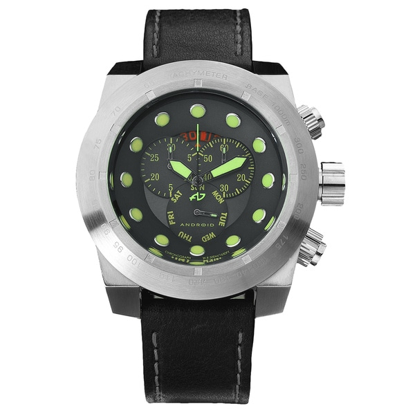 Android Men's Black 'Volcano 50' Chronograph Watch