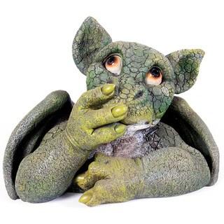 Kelkay Say Nothing Green Dragon Decorative Accent