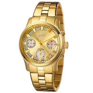 JBW Women's 'Alessandra' Gold-Tone Diamond Accented Watch