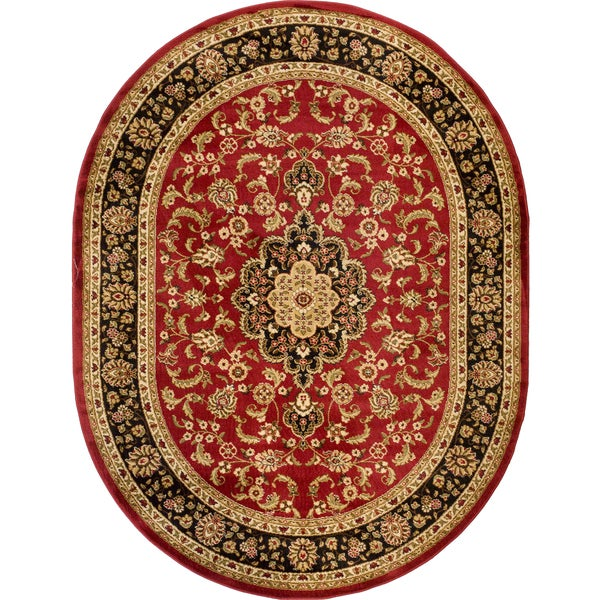 Shop Well Woven Oriental Medallion Red Oval Area Rug