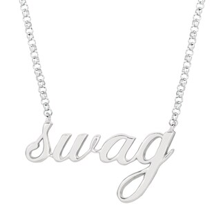 Sterling Silver Expression Swag Necklace