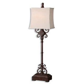 uttermost cubero brown buffet lamp