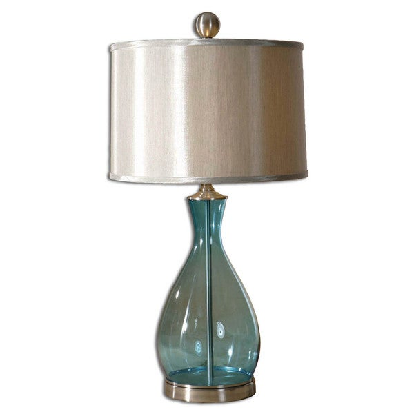 Uttermost Meena Blue Glass Table Lamp