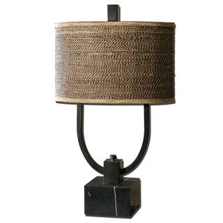 Rattan table lamps for less overstock uttermost stabina metal table lamp aloadofball Choice Image