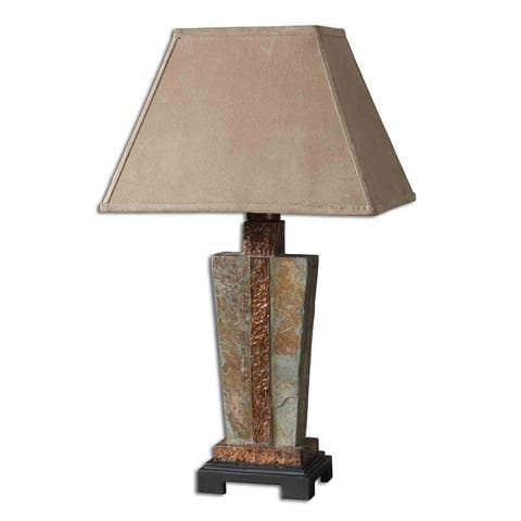 Uttermost 1-light Slate and Copper Accent Lamp