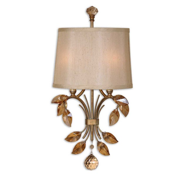 Uttermost Alenya 2-light Burnished Gold Wall Sconce