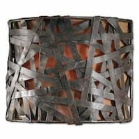 Uttermost Alita 1-light Aged Black Wall Sconce