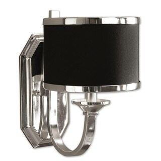 Uttermost Tuxedo 1-light Silver Wall Sconce