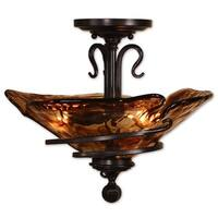 Uttermost Vitalia 2-light Oil Rubbed Bronze Semi Flush Mount