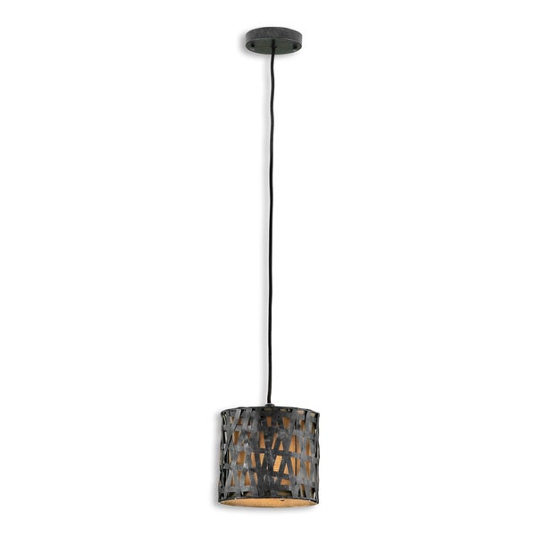 Uttermost Alita 1-light Antique Black Mini Drum Pendant