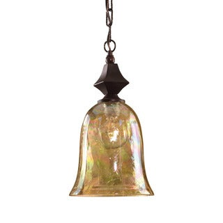 Uttermost Elba 1-light Spice Crackle Glass Mini Pendant