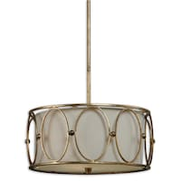 Sausalito 5 light chandelier gold free shipping today uttermost ovala 3 light antique gold leaf drum pendant aloadofball Images