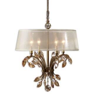 Uttermost Alenya 4-light Burnished Gold Metal Chandelier|https://ak1.ostkcdn.com/images/products/7884370/7884370/Alenya-4-light-Burnished-Gold-Metal-Chandelier-P15266737.jpg?impolicy=medium