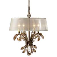 Uttermost Alenya 4-light Burnished Gold Metal Chandelier