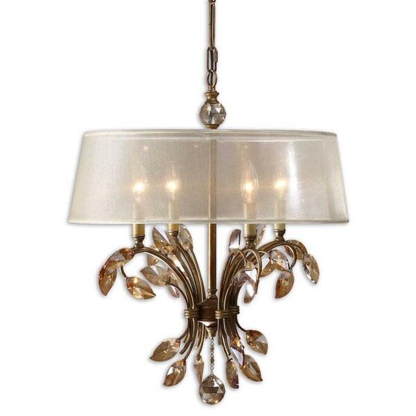 Uttermost Alenya 4-light Burnished Gold Metal Chandelier