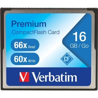 Verbatim 16GB 66X Premium Compact Flash Memory Card