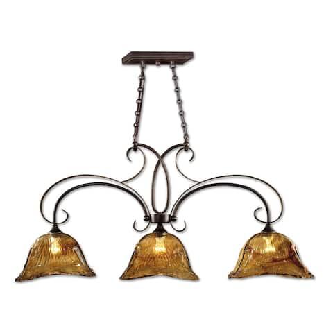 Uttermost Vetraio 3-light Bronze Kitchen Island Light