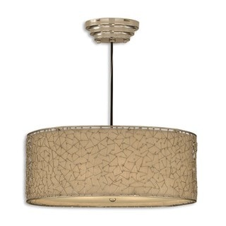 Uttermost Brandon 3-light Nickel Plated Drum Pendant