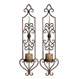 Uttermost Privas Rust and Bronze Wall Sconces (Set of 2)