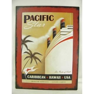 Vintage Style 'Pacific Star Ocean Liner' Metal Sign