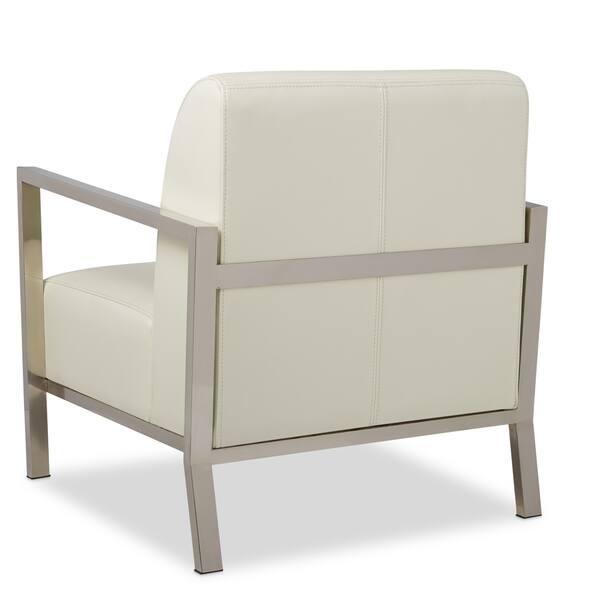 Astounding Shop Strick Bolton Modena Modern White Leather Accent Ibusinesslaw Wood Chair Design Ideas Ibusinesslaworg