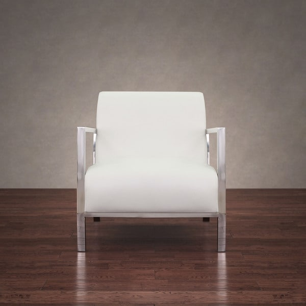 Modern White Chair modena modern white leather accent chair - free shipping today