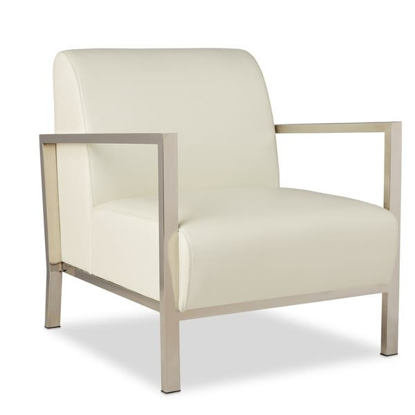 Stupendous Shop Strick Bolton Modena Modern White Leather Accent Squirreltailoven Fun Painted Chair Ideas Images Squirreltailovenorg