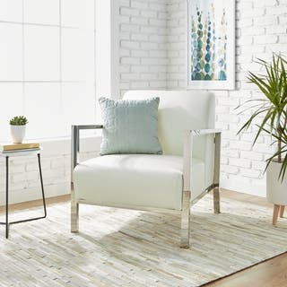 Cream, Leather Living Room Chairs For Less | Overstock