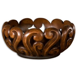 Uttermost Merida Wood Tone Decorative Bowl