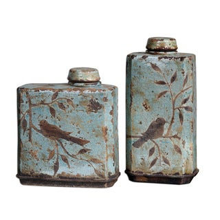 Uttermost Freya Light Sky Blue Containers (Set of 2)