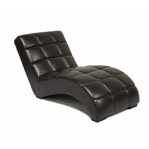 Dark brown chaise lounge free shipping today overstock for Brown leather lounge with chaise