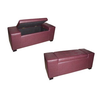 Red Storage Bench