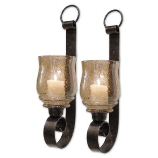 Uttermost Joselyn Antiqued Bronze Small Wall Sconces (Set of2)