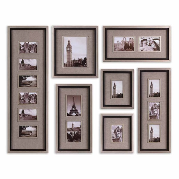 uttermost massena matte black photo frame collage s7