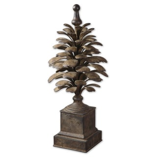 Uttermost Suzuha Aged Ivory Metal Finial