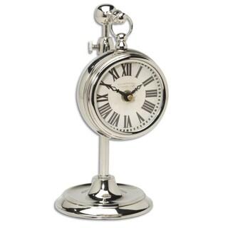 Uttermost Pocket Watch Nickel Plated Brass Marchant Clock