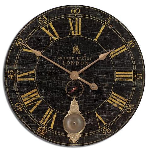 Uttermost Bond Street 30-inch Black Wall Clock