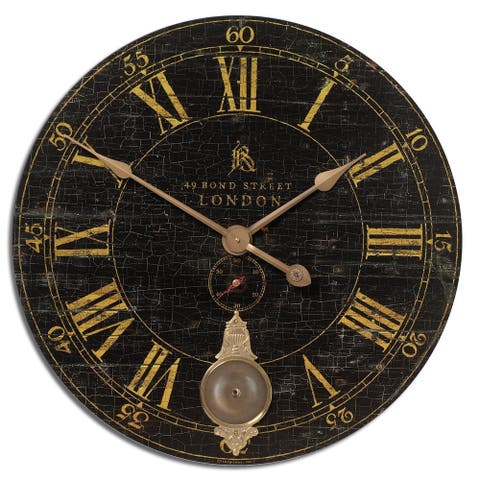 Uttermost Bond Street 30-inch Black Wall Clock