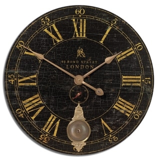 Link to Uttermost Bond Street 30-inch Black Wall Clock Similar Items in Decorative Accessories