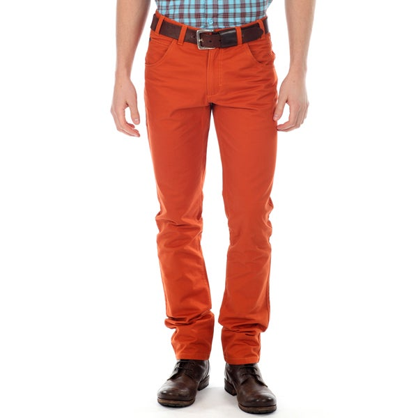 191 Unlimited Men's Orange Straight Leg Pants