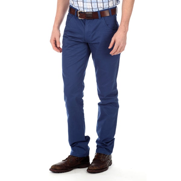 191 Unlimited Men's Blue Straight Leg Pants