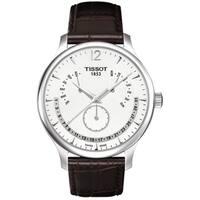 Tissot Men's Brown Leather Silver Dial Swiss Quartz Watch