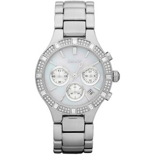 DKNY Women's Stainless Steel Mother of Pearl Dial Quartz Watch