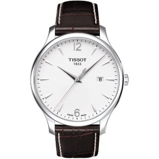 Tissot Men's Brown Leather Swiss Quartz Watch