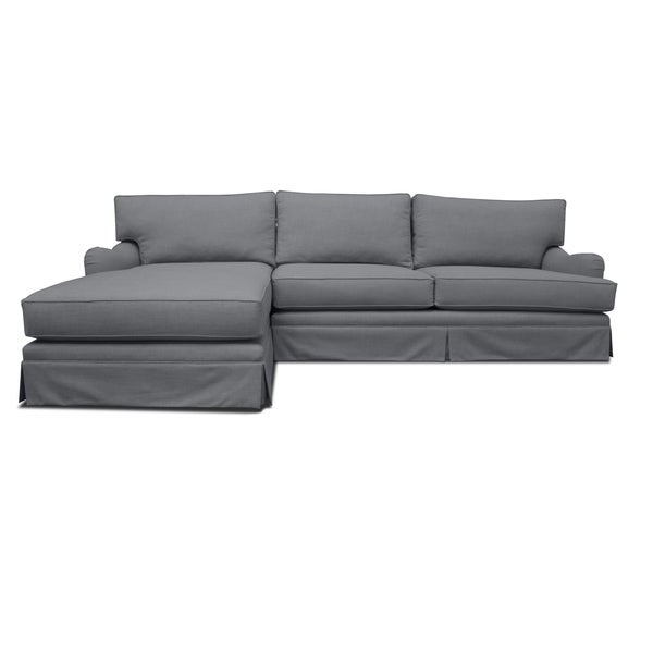 New England linen Sofa and Chaise Free Shipping Today