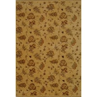 Safavieh Hand-knotted Agra Beige Wool Rug - 4' x 6'