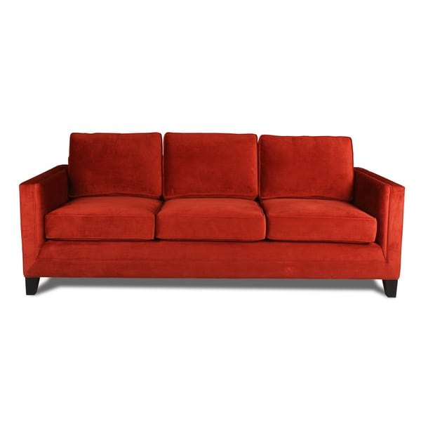 Barcelona velvet sofa free shipping today overstock for Sofas 4 plazas barcelona