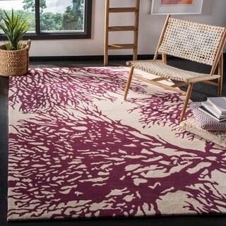 Safavieh Handmade Bella Beige/ Terracotta Wool Rug (2'3 x 7')