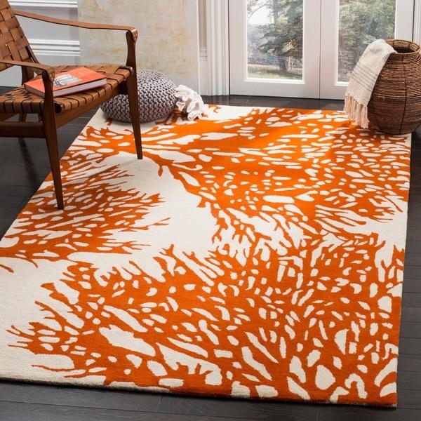 Safavieh Handmade Bella Beige/ Terracotta Wool Rug - 8' x 10'